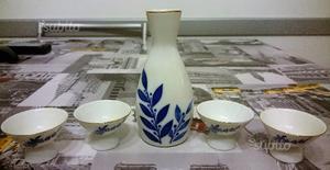 Sake pot e 4 tazze di sake