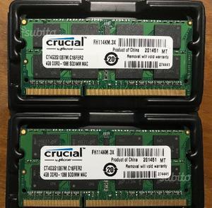 8 gb (4x2) Ram DDR3 per MacBook/Notebook