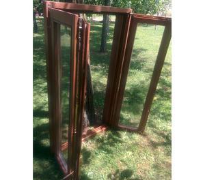 Porta finestra legno douglas posot class - Telaio finestra legno ...