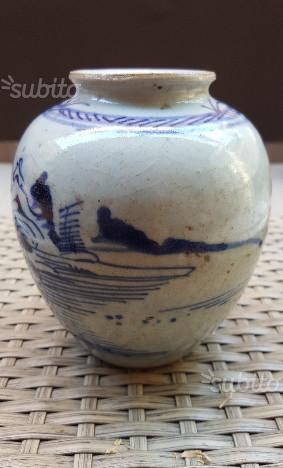 Vaso cinese con marchio in ceralacca