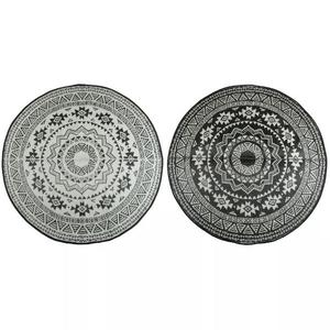 Esschert Design Tappeto da Esterno 180 cm Bianco Nero OC18