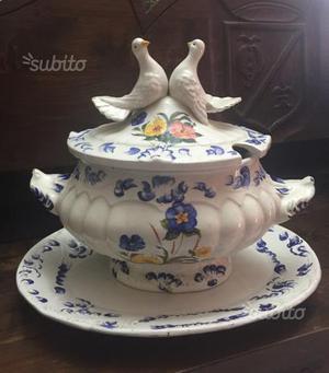 Centrotavola in Ceramica Decorato con Fiori.Anni60