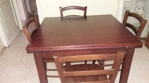 Tavolo da cucina estendibile co 4 sedie