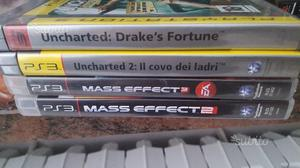Giochi lotto playstation 3 UNCHARTED MASS EFFECT