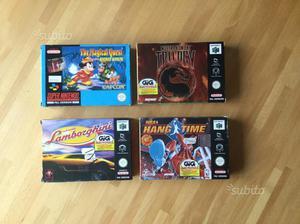 Lotto giochi SNES e Nintendo 64