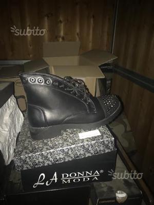 Stivali blu con borchie bikers boots mod ash 36 | Posot Class