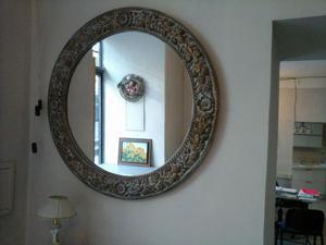 Specchio tondo cornice anticata