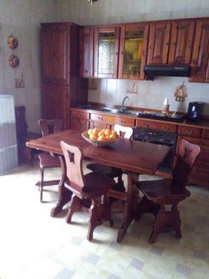 1 / 3 Tavolo da cucina 4 posti estensibile + 6 sedie