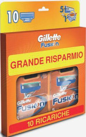 Gillette Fusion Lamette di Ricambio per Rasoio, Confezione