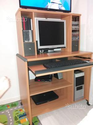 Mobile scrivania con scaffale posot class - Mobile con scrivania ...