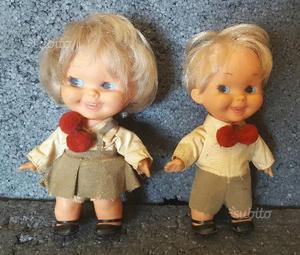 Sebino coppia bambole vintage gemellini 18 cm
