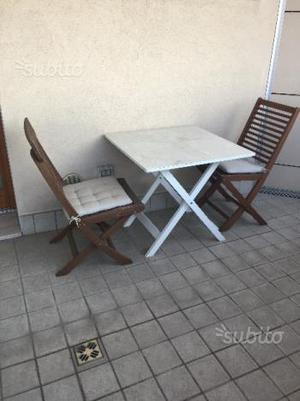 Set tavolo + 2 sedie da terrazza