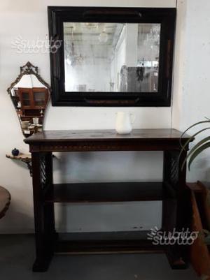 Antico mobile servante con specchiera ebanizzata