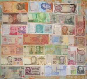 Collezion lotto Banconote mondiali straniere scegl