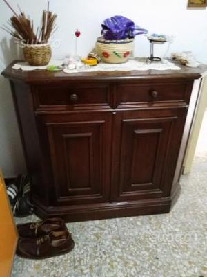 Ingressino in legno massello antico noce