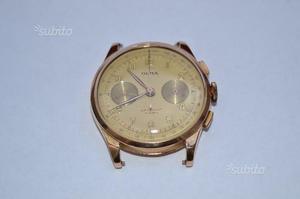 Orologio cronografo in oro rosa 18k
