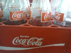 Cassettiera Coca Cola + 12 bottiglie in vetro
