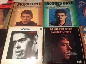 LP 33 giri vinile autori francesi brel reggaini la