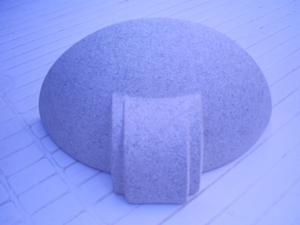 n° 4 applique in ceramica da parete a forma di mezzaluna