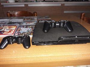 PS3 più 2 joystick e 14 giochi
