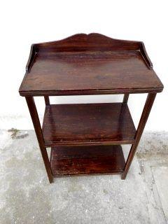 Etagère tavolino antico primi '900 in legno massello