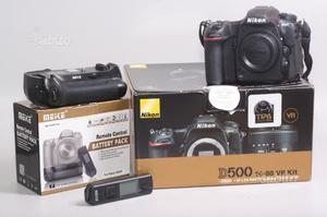 Fotocamera digitale reflex nikon d500+b. grip.nita