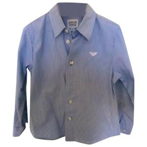 camicia a righe armani junior
