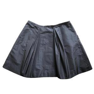 miu miu blue mini skirt