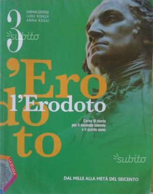 """Libro scolastico """"L'ERODOTO 3"""" usato"""