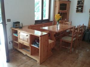 Set mobili in pino massello per soggiorno tinello | Posot Class