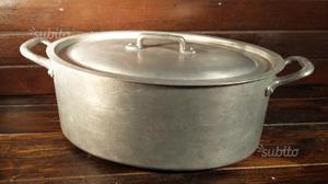 A 379 alluminio vecchio casseruola ovale coper