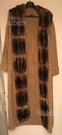 Cappotto Gibierre in maglia con pelliccia