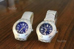 Coppia di orologi swatch