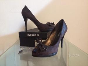 Scarpe decolté Blocco 31 in ecopelle vintage, 41