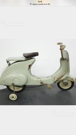 Vespa X bambini anni 50 in ferro a pedali
