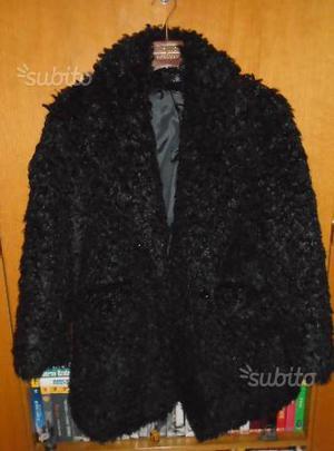 Giaccone nero tipo pelliccia ZZ La Femme tg 42