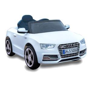 Macchina Elettrica Per Bambini 12v Audi S5 Cabrio Bianco
