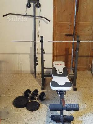 Panca multifunzione high power bench 860 con pesi