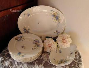 Piatti + 2 vassoi antichi Richard Ginori fiori blu