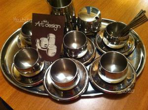 Set tazze AMC acciaio servizio da 6