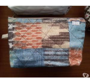 Pochette trousse borsette in stoffa uniche con cerniere