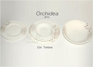 PIATTI PORCELLANA BONE CHINA 38 Pz. ORCHIDEA