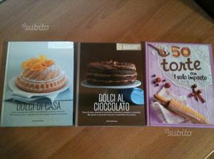 3 libri di ricette dolci - torte - cake