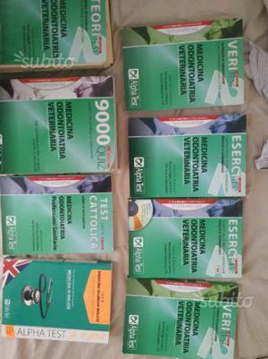 Libri alpha test medicina odontoiatria veterinaria