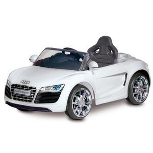 Macchina Elettrica Per Bambini 6v Audi R8 Bianco