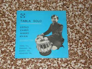 LP musica indiana tabla e sarangi Ustad Zamir Ahmad Khan
