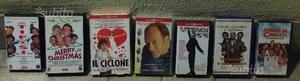 Lotto di 7 vhs film commedie italiane