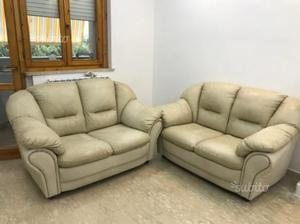 Coppia divani in vera pelle