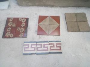 Mattonelle pavimento in cementine usate del posot class