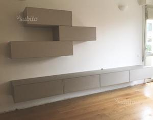 Mobili sospesi soggiorno resina cementizia posot class